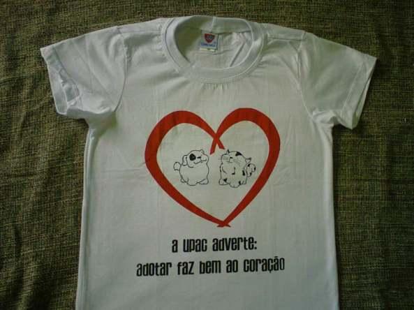 Camiseta coração gordinhos