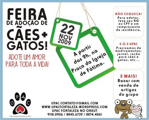 Feira de Adoção de Cães e Gatos da UPAC
