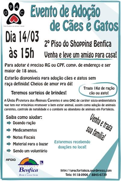 Evento de Adoção no Shopping Benfica