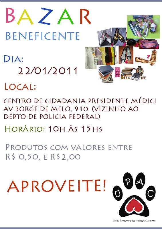Bazar de produtos usados da Upac  - Jan / 2011