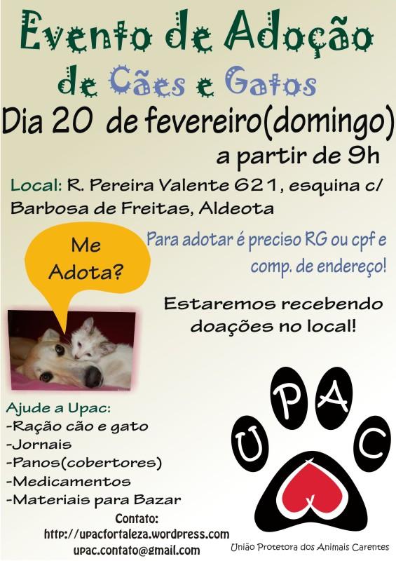 Evento de Adoção de Cães e Gatos da Upac Fev 2011