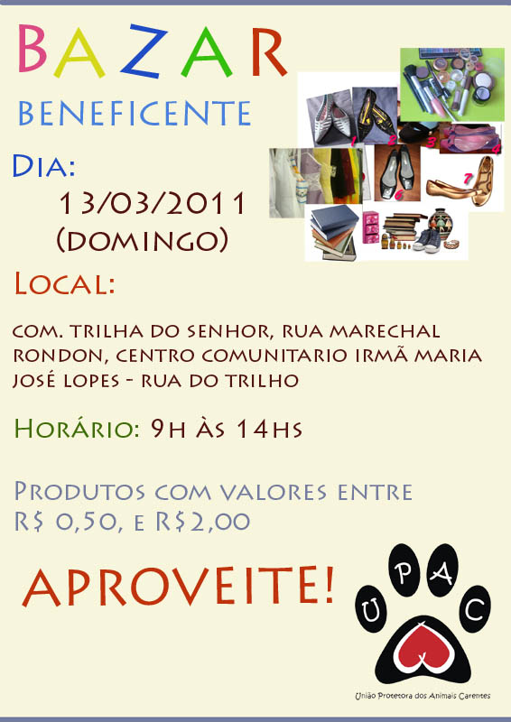 Bazar de Produtos Usados da Upac - Mar/11