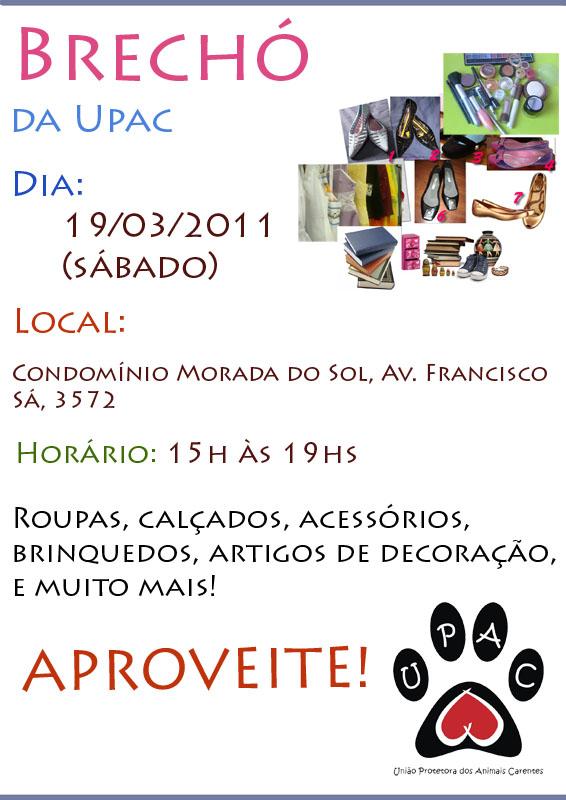 Brechó da Upac Ed. Mar2011