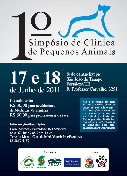 I Simpósio de Clínica de Pequenos Animais - clique para ampliar