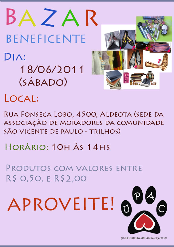 Bazar Beneficente da Upac