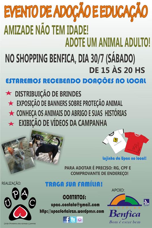 Evento de Educação e Adoção de Cães e Gatos no shopping benfica jul-11