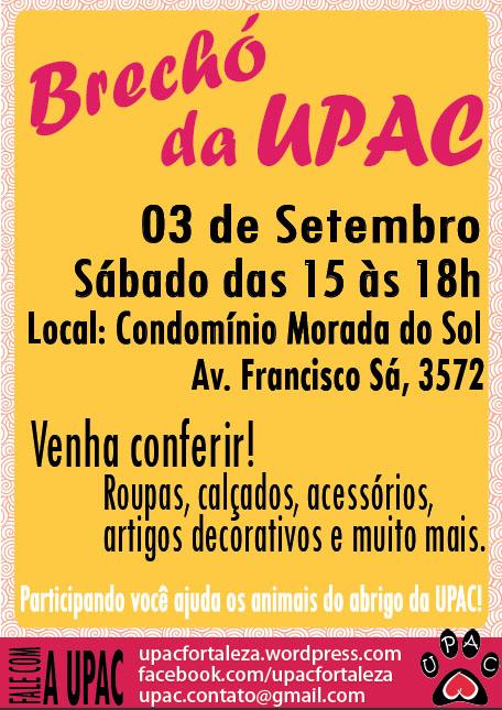 Brechó da Upac - Set-2011 - Participe!