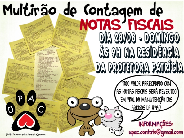 Mutirão de Contagem de Notas Fiscais! - Participe!