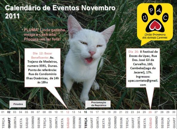 Calendário de Atividades Upac – Nov/11