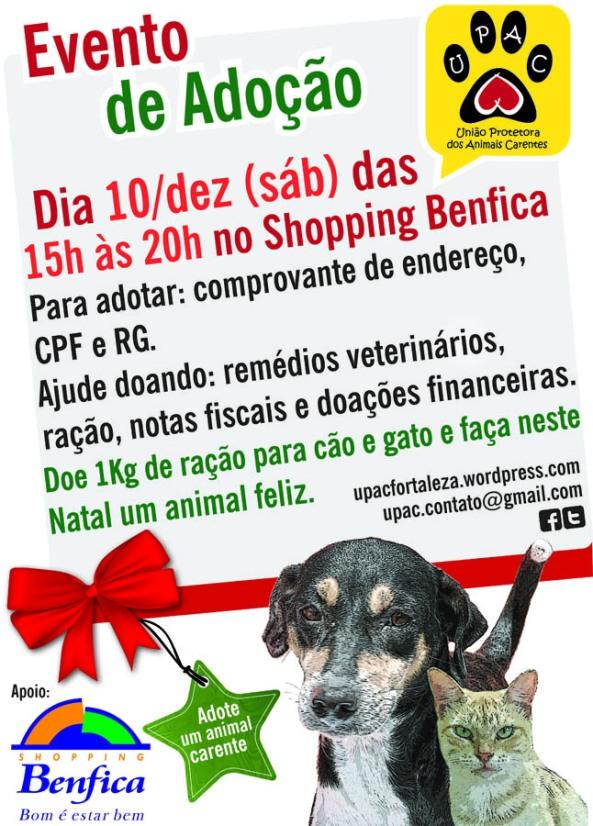 Evento de Adoção de Cães e Gatos da Upac - Benfica - 10-12