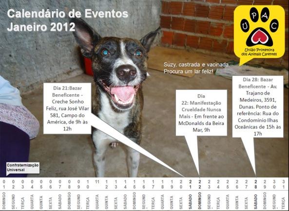 Calendário de Atividades da Upac – Jan 2012