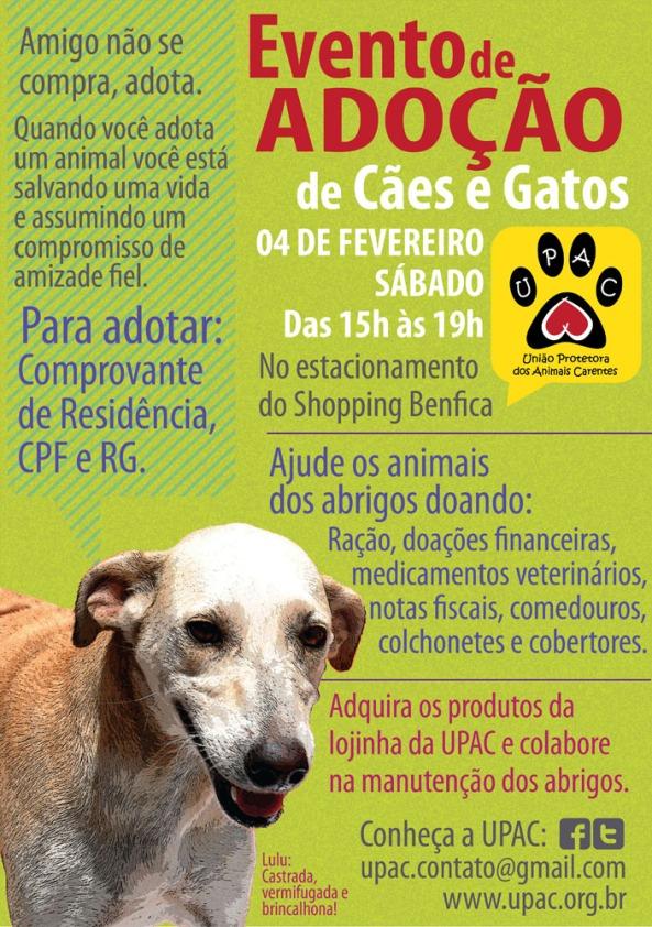 Evento de Adoção de Cães e Gatos da Upac – Fev/12