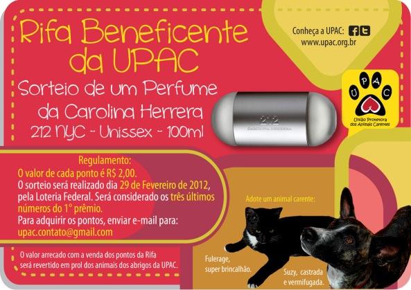 Rifa Beneficente da Upac - Perfume CH 212 Unissex
