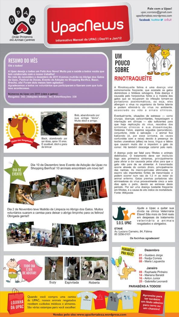 UpacNews - O informativo mensal da Upac - Dez-Jan-2012