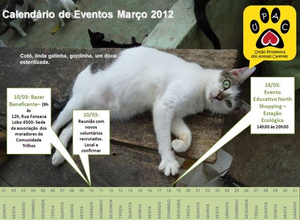 Calendário de Eventos UPAC - Março 2012 - clique para ampliar