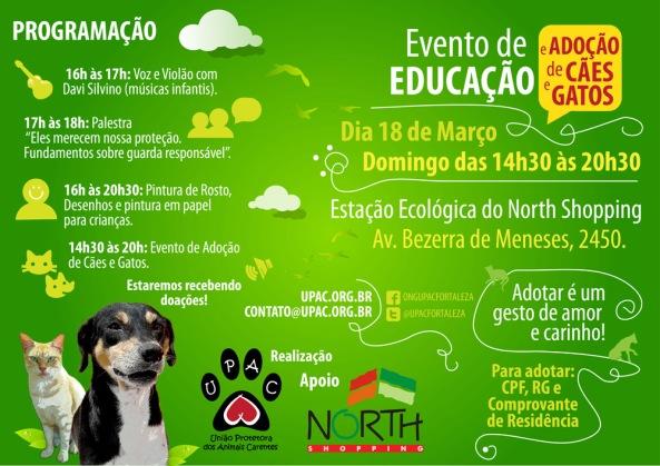 Evento Educativo e de Adoção de Cães e Gatos da Upac - clique para ampliar