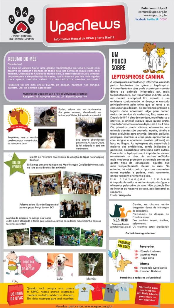 UpacNews - O informativo mensal da Upac - Mar/12 - clique para ampliar