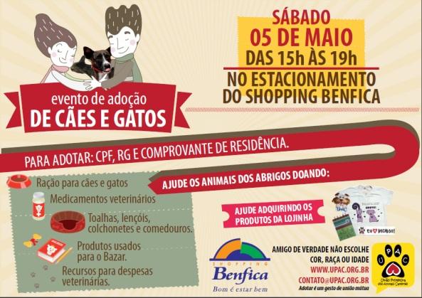 Evento de Adoção de Cães e Gatos no Shopping Benfica - Mai/12