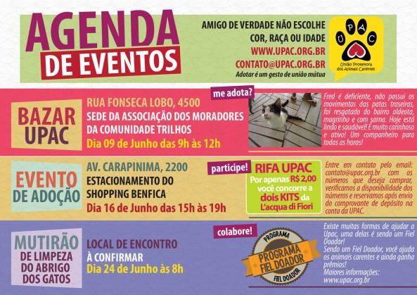 Calendário de Eventos da Upac – Junho 2012