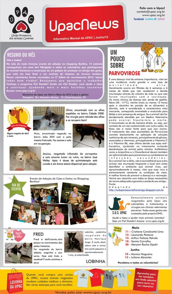 UpacNews – O informativo mensal da Upac - Jun-12