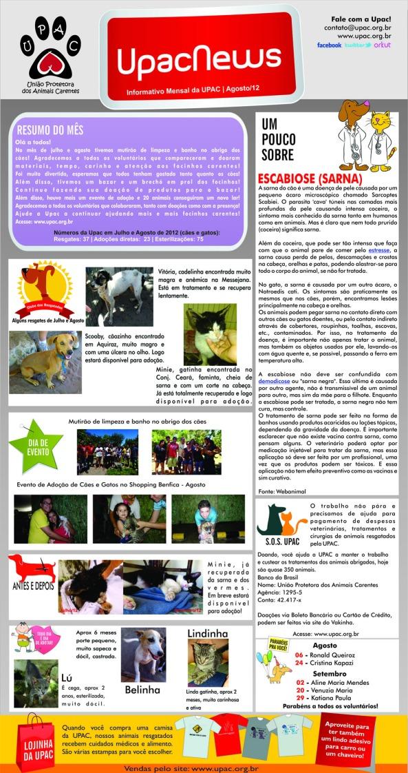 UpacNews - O informativo mensal da Upac - Ago/12