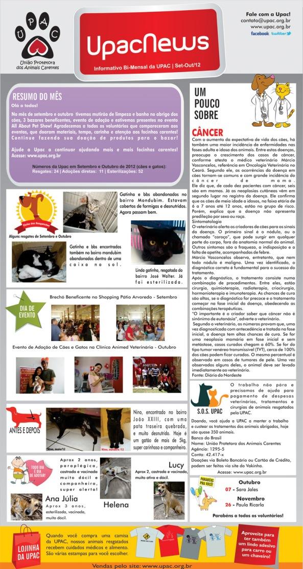 UpacNews - O informativo bi-mensal da Upac - Out-12 - Clique para ampliar