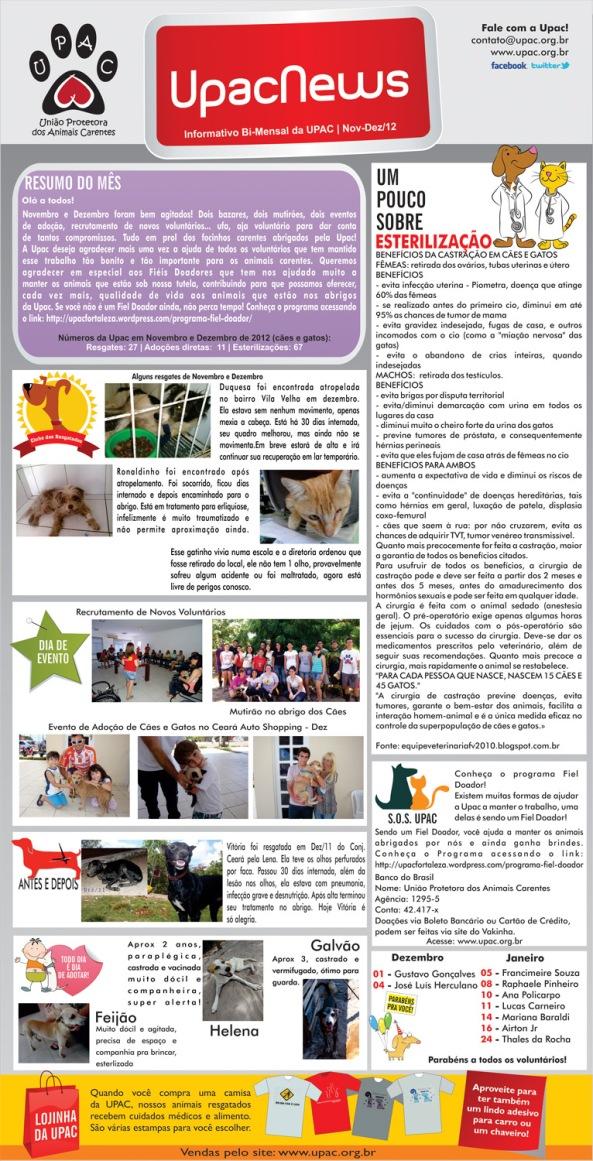 UpacNews - O informativo bi-mensal da Upac - Jan/13
