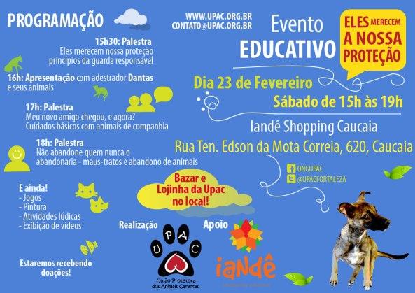 Evento Educativo: Eles merecem a nossa proteção