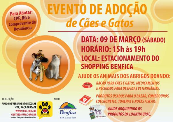 Evento de Adoção de Cães e Gatos da Upac - Mar/13