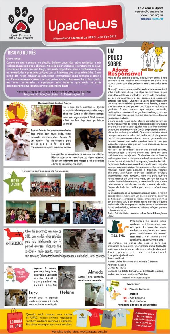 UpacNews – O informativo bimestral da Upac – Fev-13