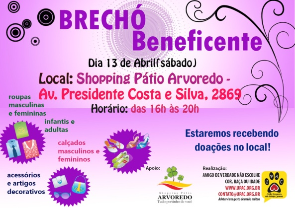 Brechó Beneficente da Upac - Abril/13