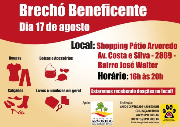 Brechó beneficente UPAC