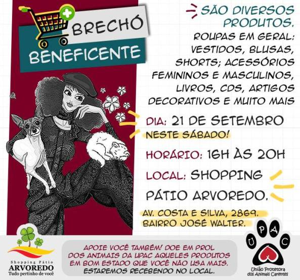 Brechó beneficente UPAC!!!