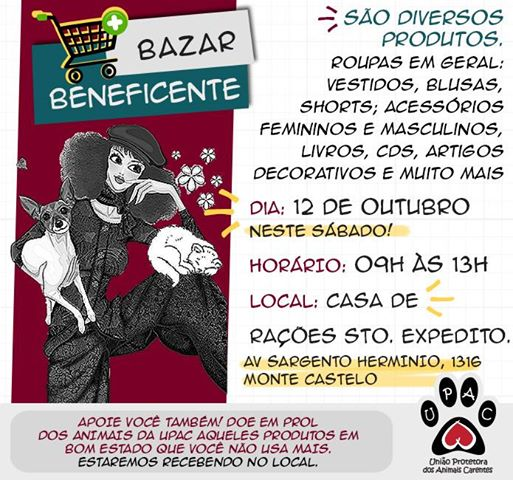 BAZAR BENEFICENTE UPAC!!